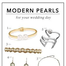 for your wedding modern pearls for your wedding day brides