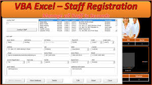Excel Database Templates Free Staff Database Excel Awesome Userform Database Pc Learning