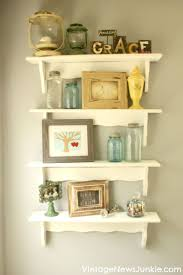 vintage on the shelf best 25 stacking shelves ideas on ikea spice jars