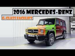 mercedes g class history 2016 mercedes g class facelift upgraded suspension and