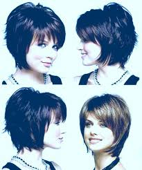 front and back pictures of short hairstyles for gray hair layered short haircuts front and back view coloured back view