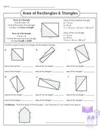 area of rectangles and triangles worksheet free worksheets library
