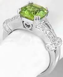 peridot engagement ring cushion cut peridot engagement ring with gallery