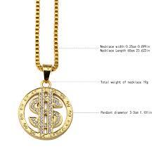 aliexpress buy nyuk new fashion american style gold nyuk dollar us money sign chain with rhinestone gold