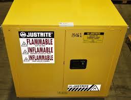 Justrite Flammable Liquid Storage Cabinet 1 Used Justrite 892320 Sure Grip Ex Flammable Cabinet 15385