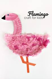 easy paper plate flamingo craft for kids tissue paper crafts