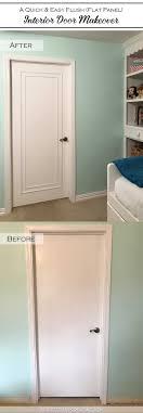 Interior Door Makeover An Easy Inexpensive Way To Update Flush Flat Panel Interior