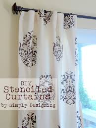 Kitchen Stencils Designs by Diy Stenciled Curtains And A Giveaway From Cutting Edge Stencils