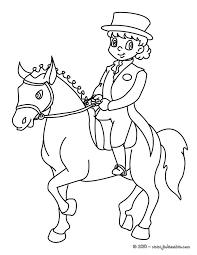 coloriages coloriage d u0027un enfant cavalier fr hellokids com