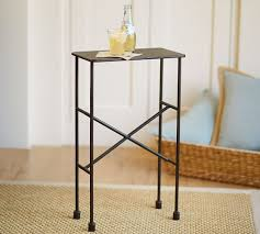 Iron Accent Table Zane Accent Side Table Pottery Barn
