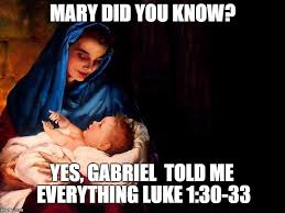Mary Meme - mary and baby jesus imgflip