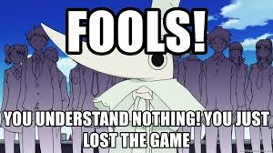 Soul Eater Excalibur Meme - fools you understand nothing you just lost the game excalibur