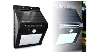 Motion Activated Outdoor Wall Light 20 Led Solar Power Motion Activated Outdoor Wall Light Groupon