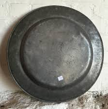 pewter platter large pewter charger trapp of london circa 1730 at 1stdibs