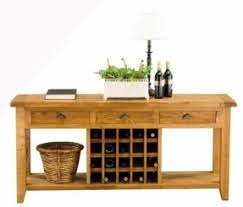 Vancouver Oak Coffee Table - console table with wine rack foter