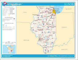 Illinois Map With Counties by Geography Of Illinois Wikipedia