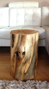 Log Side Table Side Table Log Side Table Furniture Wood Stump Tables End Coffee