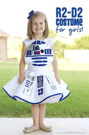 star wars r2 d2 dress costume for girls