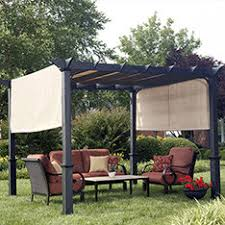 Outside Awning Shop Gazebos Pergolas U0026 Canopies At Lowes Com