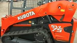 kubota svl 75 compact track loader youtube
