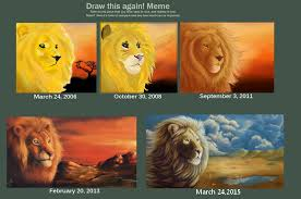 Draw It Again Meme - draw this again meme gold lion by the hare on deviantart