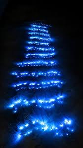 blue led waterfall net light