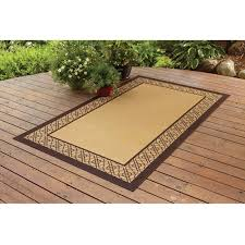 Bamboo Outdoor Rugs Better Homes And Gardens Indoor Outdoor Bamboo Border Polyester