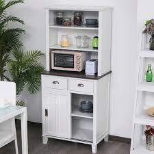 homcom kitchen pantry cupboard wooden storage cabinet organizer shelf white homcom free standing kitchen pantry cabinet cupboard storage