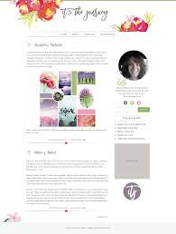 Lifestyle Blog Design New Blog Design For Erinn From It U0027s The Journey U2022 259 West