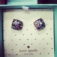 glitter stud earrings kate spade boxed multi glitter stud earrings on the hunt
