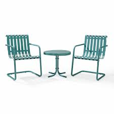 Old Fashioned Metal Outdoor Chairs by Crosley Furniture Gracie 3 Piece Metal Outdoor Conversation