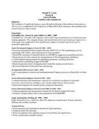 Six Sigma Black Belt Resume Examples by Cio Resume Edwin Fisette Cio Resumes Before And After Resume