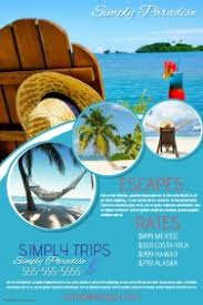 island brochure template customizable design templates for travel agency postermywall