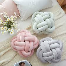 knot pillows creative home colourful knot cushion pillow sofa cushions knot