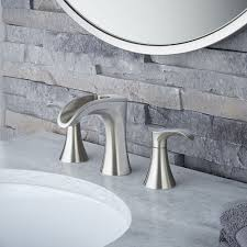 brushed nickel brea widespread bath faucet lf 049 brkk pfister