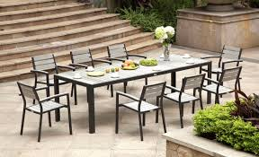 Modern Patio Dining Sets Impressive Patio Dining Set With Bench Ideas Wonderful Rectangular