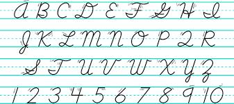 cursive letters uppercase