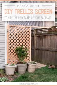 How To Build A Trellis Build A Simple Diy Trellis Screen To Hide Ugly Areas In Your Backyard
