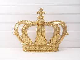 gold princess crown gold crown crown wall decor