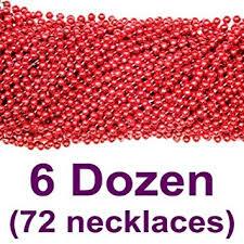 mardi gras beaded necklaces 33 inch 07mm metallic mardi gras 6
