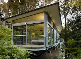 minimalist nice design of the modern cabin design that has wooden
