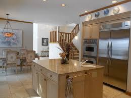 birch kitchen island kitchen charming small kitchen decoration with 2 door stainless