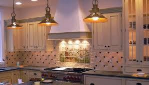 decorative tiles light yellow walls kitchen backsplash and