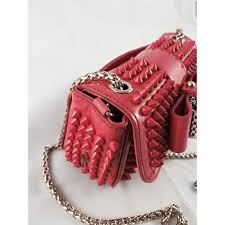 christian louboutin cross body sweety charity pink leather ref