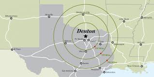 Arlington Tx Map Denton On The Map Denton Tx Edp