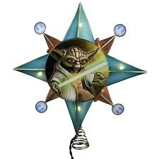 lighted tree topper wars clone wars yoda lighted tree topper
