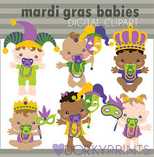 mardi gras babies mardi gras clipart personal and limited commercial use