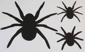large spider die cuts spider halloween decoration window