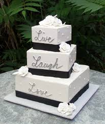 square wedding cakes wedding cakes square 3 tier live laugh search