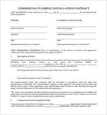 7 plumbing contract templates u2013 free word pdf format download